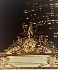 Grand Central Station (ForsythiaHill) Tags: newyork newyorkcity manhattan nyc visitingnyc thebigapple falltrip fallinnyc fall grandcentralstation clock statue wall street