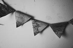 """Hautes Alpes"" (Eric Flexyourhead) Tags: mino minoo minoh minoshi  osaka  kansai  japan  comarthill wallmanbuilding cafematin cafe restaurant detail fragment map banner flag france monochrome grainy gritty highcontrastbw blackwhite bw ricohgr"