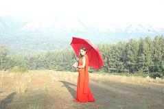 South Actress Deepika Das Hot in Red Sari Photos Set-5
