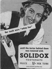 SOLIDOX Toothpaste (OldAdMan) Tags: oldadman advertisements advertising vintage healthbeauty solidox tartar toothpaste