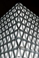 Affront (Douguerreotype) Tags: uk gb britain british england london bw blackandwhite mono monochrome negative abstract architecture buildings car park parking symmetry city urban geometry geometric
