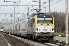Gand-Gent-Dampoort Siemens Vectron SNCB 1823 (DiL Photos) Tags: infrabel croissrail sncb am96 bombardier alstom siemens vectron traxx class66 desiro am08 type 13 fret hkm cargo