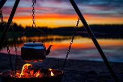 Coffee time (Henryhayfever) Tags: finland coffee sunset summer lake fire daarklands abigfave picflixdigitalimages