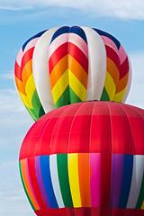 Dos Globos (matthewkaz) Tags: balloon balloons hotairballoon hotairballoons ballonfest michiganchallenge howell michigan sky clouds 2012 color colors rainbow