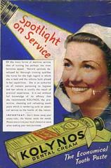 KOLYNOS Dental Cream - Nursing (OldAdMan) Tags: oldadman advertisements advertising vintage healthbeauty kolynos dental cream toothpaste propaganda