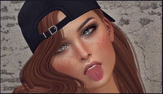 *That moment when you talk to yourself and you start smiling like an idiot because you're just so hilarious*  () Tags: crazy hilarious idiot funny female tongue sl secondlife