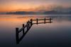 Silence (Dani℮l) Tags: helper daniel bosma groningen reflection nederland netherlands holland fog mist cold air silence sunset zonsondergang nikon d750 still