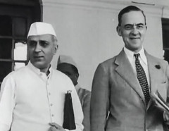 Nehru and Cripps (Doc Kazi) Tags: pakistan india independence negotiations ceremonies jinnah gandhi nehru mountbatten viceroy wavell stafford cripps edwina fatima muhammad ali