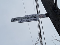 So Long Marianne And Leonard (Exile on Ontario St) Tags: leonardcohen solong marianne sign street marieanne intersection traffic streetname trafficsign streetnamesign signe pancarte affiche long leonard marie anne memorial montreal death cohen rip tribute hommage dies dead décès mort passing singer poet writer montrealer ann saintdominique stdominique quebec canada québec montréal ripleonardcohen hommages plateau plateaumontroyal tributes songwriter song songs music canadian mourn mourning