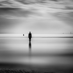 All the Lonely People (timmb15) Tags: longexposure blackandwhite liverpool antonygormley seascape stayues waterloobeach