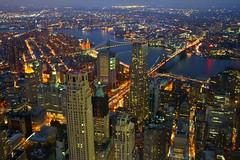 Downtown Manhattan - Brooklyn Bridge & Manhattan Bridge (mudrax) Tags: newyorkcity nyc worldtradecenter wtc oneworldtrade oneworldobservatory empirestatebuilding downtownmanhattan manhattan canon brooklynbridge bridge