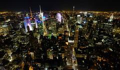 Manhattan at Night (` Toshio ') Tags: toshio nyc newyorkcity newyork manhattan timessquare topoftherock rockefellercenter chryslerbuilding city night usa america fujixe2 xe2 buildings architecture midtown
