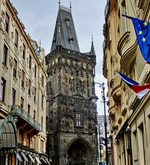 Powder Tower | Pulverturm - Prague, CZ (Andr-DD) Tags: prague praha prag tschechischerepublik hauptstadt europa europe goldene stadt goldencity city esk republika outdoor architecture czechrepublic pulverturm powdertower pranbrna
