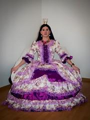 The Princess (blackietv) Tags: dress purplewhite full skirt gown petticoat romantic crown tiara crossdresser tgirl transvestite crossdressing transgender princess queen costume