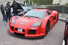Gumpert Apollo (Monde-Auto Passion Photos) Tags: auto automobile gumpert apollo rouge coup france rally paris evenement sportive supercar