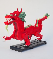 Red Dragon (W. Navarre) Tags: lego chinese dragon red fire sand green