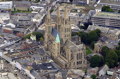 Truro Cathedral in Cornwall - aerial image (John D F) Tags: truro cathedral aerial aerialphotography aerialimage aerialphotograph aerialimagesuk aerialview britainfromabove britainfromtheair