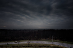 the.human.scale (jonathancastellino) Tags: highway series car road drive dark cloud clouds tre trees landscape leica q curve ontario freeway