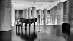 the piano @ the acropolis museum (dan.boss) Tags: monochrome bw museum pillars hall piano greece acropolismuseum athens