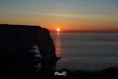 Cliffs sunset Etretat (Olivier@6) Tags: falaises cliffs sun sunset mer soleil seascape seaside rocks rochers ocean nikond700 coast