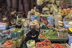 Market in Sucre (PentiBenH) Tags: asleep market colour travel lonely fruit canon bolivie sucre