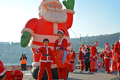 Santa Claus with a black belt (misi212) Tags: santa claus black belt budapest hungary