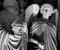 Paris (Noir et Blanc 19) Tags: paris notredame nightlights nuits cathédrale nb bw noiretblanc sony a77