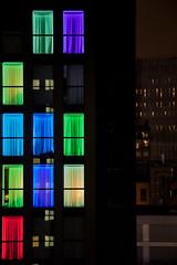 Night rainbow (SamueleGhilardi) Tags: notte night arcobaleno rainbow milano milan colori colors luci colorate colored light curtains tende windows finestre