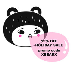 Holiday sale on my Bigcartel shop! 15% off now thru Dec. 31st (Andrea Kang) Tags: ifttt instagram stationery cute kawaii candy bubblegum shopsmall holiday sale andreakang bear characterdesign
