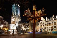 Mechelen by night (DirkVandeVelde back) Tags: europ europa europe belgie belgium belgica belgique antwerpen anvers antwerp sintromboutstoren sintromboutskathedraal margarethavanoostenrijk post outdoor buiten building gebouw architecture sony