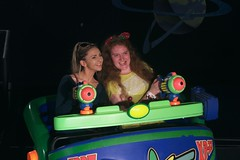 Buzz Lightyear Ride (Elysia in Wonderland) Tags: magic kingdom elysia florida orlando disney world 2016 holiday buzz lightyear space ranger spin ride shooting game laser lucy becca