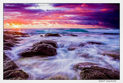 Stormy waters. (Kent Wilkins) Tags: infocus landscape sunrise ocean swell stormy waves rocks drama kindscliff new south wales australia flickr estrellas
