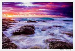 Stormy waters. (Kent Wilkins) Tags: infocus landscape sunrise ocean swell stormy waves rocks drama kindscliff new south wales australia flickr estrellas