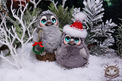 Little penguins (rioky_angel) Tags: riokycreatures creature cute fantasy furry fluffy monster handmade artdoll arttoy polimerclay clay ooak toys toymaker creativity penguin