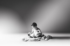 Brothers... (Jennifer Blakeley) Tags: boys newborn baby brother children childhood blackandwhite portriat