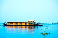 Boat House | Alappuzha (prashanthkumar2) Tags: southindia tour vibrant sky filters blue reflections nikond5100 photography alappuzha alleppey kerala lake saillake boathouse nature landscape