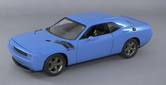 2009 Dodge Challenger Petty Blue 1-2 (rbungay@rogers.com) Tags: 2009dodgechallenger amt125modelcar musclecar mopar bluecar gravitycolorspettyblue
