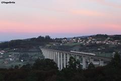 Un largo camino... (yagoortiz) Tags: tren alvia coruña barcelona 130006 eixo santiago puente galicia amanecer paisajes gallegos