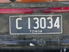 Tongan licence plates!