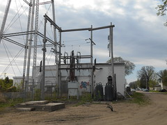 Wrecked-out substation (NDLineGeek) Tags: