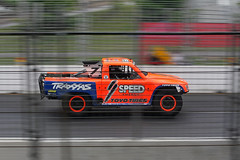 off-road racing (scienceduck) Tags: toronto ontario canada motion energy offroad july tires motionblur pan panning tdot traxxas irl indycar toyo 2014 scienceduck torontoindy hondaindy torontohondaindy 2into speedenergyformulaoffroad