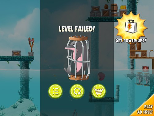Angry Birds Rio Level Failed: screenshots, UI