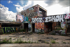 Various... (Alex Ellison) Tags: school urban building abandoned graffiti close boobs decay bean chrome graff derelict southlondon urbex anerley paces 1t dfn dowt