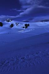 Plateau Rosà in blu (andregnis) Tags: blue sunset red italy snow fire switzerland nikon plateau border wideangle hut hour mountaineering zermatt matterhorn rifugio starrynight hutte redsunset breithorn cervino rosà plateaurosa disgelo nikon1224 nd1000 valled'aosta d300s guidedelcervino