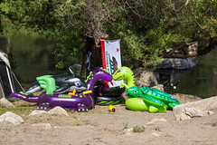 Floatie Family 2 (PhDtv) Tags: california road ca trip travel camping light wild camp nature water rock cali night creek forest swim river stars t outdoors fire los woods dragon dinosaur angeles hike kern route inflatable journey whale orca write float slides rex hobo caliente alder sumemr