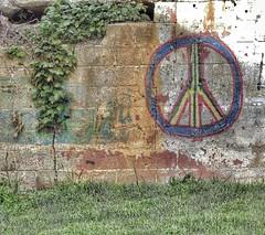 Peace, Man (podolux) Tags: wall lumix peace wv westvirginia charlestown peacesign paintedwall jeffersoncounty snapseed lumixdmcfz200