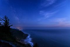 Twilight From Cape Perpetua (capemountain) Tags: stars jane capeperpetua milkyway oceantwilight