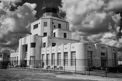 1940 Air Terminal B&W, Houston Texas (Bill Jacomet) Tags: airport wings texas tx air wheels 1940 houston terminal hobby and