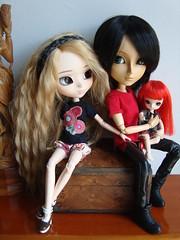 Kumiko, Ryan & Enfer (Lunalila1) Tags: outfit little ryan handmade dal mini 25 wig pullip olsen rayne kumiko enfer costura oba obitsu ddalgi taeyang