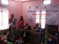 Opening Ceremony (The Advocacy Project) Tags: nepal camp people nature rural project justice women asia peace social womens medical health human rights medicine care fellowship fellows prolapse advocacy uterine